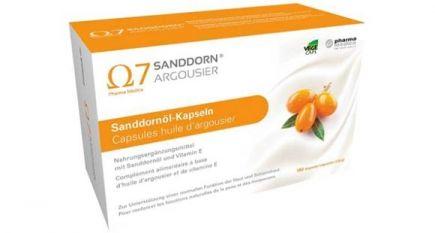 Omega 7 Sanddorn Argousier 180 Sanddornöl-Kapseln